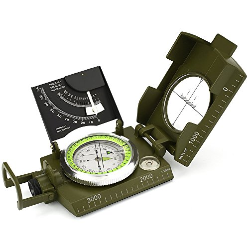 ydfagak Survival Compass 1 ydfagak Compass Waterproof Hiking Military Navigation Compass with Fluorescent Design,Perfect for Outdoor Activities