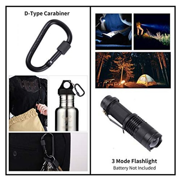 RUIJIA Survival Kit 3 RUIJIA Survival Kit 12 in 1, Survival Gear Accessories Wise Outdoor Emergency Tactical Defense Equipment Tools, Emergency Gear for Camping, Hiking, Hunting, Climbing, Fishing, Pefect Gifts for Family