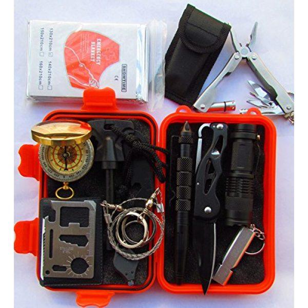 GOGOMY Survival Kit 1 Gogomy Emergency Survival Kits 13 in 1 - Camping, Hiking & Climbing Survival Kits Tools