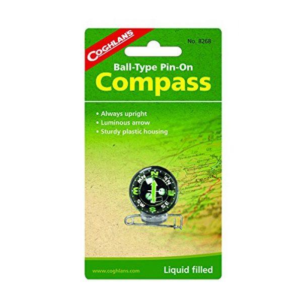 Coghlan's Survival Compass 1 Coghlan's Ball-Type Pin-On Compass