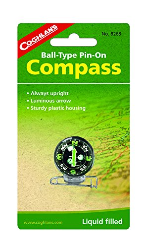 Coghlan's Survival Compass 1 Coghlan's Ball-Type Pin-On Compass