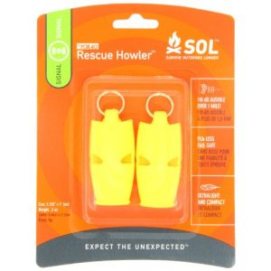 S.O.L. Survive Outdoors Longer Survival Whistle 1 S.O.L. Survive Outdoors Longer Rescue Howler Whistle (2-Count), 0140-1002