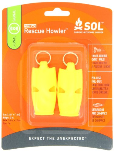 S.O.L. Survive Outdoors Longer  1 S.O.L. Survive Outdoors Longer Rescue Howler Whistle (2-Count)
