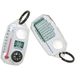 Sun Company Survival Compass 1 Sun Company TripleGage - Zipper Pull Compass, Thermometer, and Magnifying Glass