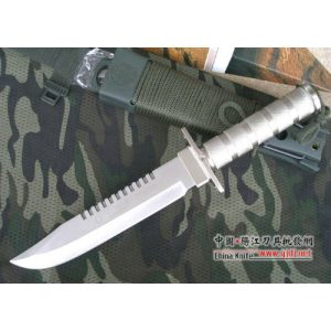 Crystal Fixed Blade Survival Knife 2 Crystal AITOR Jungle King I Silver Hunting Knife Straight Knife Tactical Knife Combat Camping Survival Outdoor AB216#