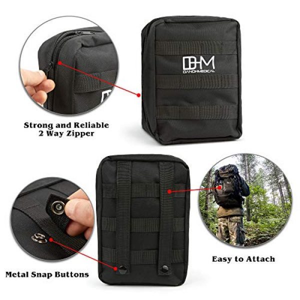 D AND H MEDICAL First Aid Kit 3 D & H Medical Survival (IFAK) Trauma First Aid Kit for Emergencies. Includes Combat Action Tourniquet (CAT) and Much More. Great for Outdoor Gear for Camping Hiking Hunting Travel Car Adventures.