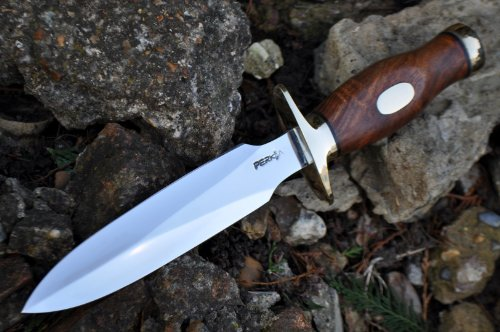 Perkin  3 Perkin Handcrafted Hunting Knife - 440c Steel - Double Edge - Amazing Value Limited Time Offer