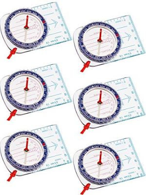 Gejoy Survival Compass 1 Gejoy Boy Scout Compass Orienteering Compass Map Compass for Hiking Fishing Camping Navigation