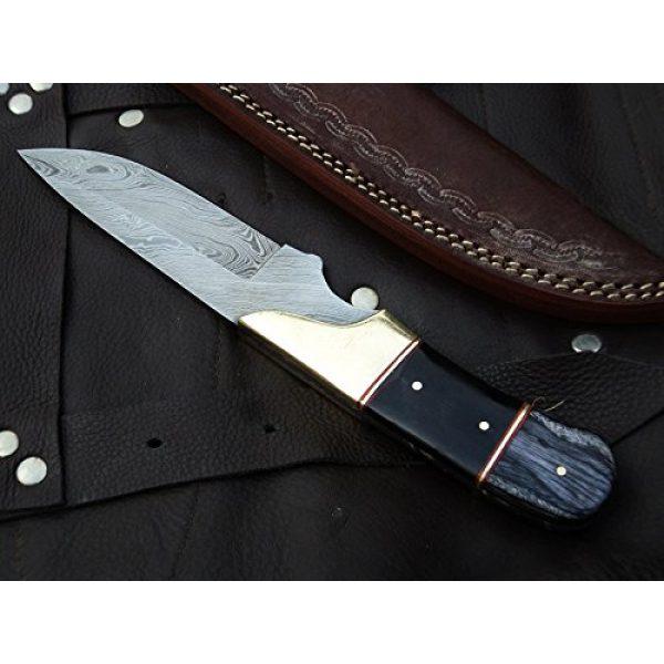 "DKC Knives Fixed Blade Survival Knife 1 DKC Knives (9 7/18) Sale DKC-714 Black Widow Damascus Steel Hunting Handmade Knife Fixed Blade 8.5 oz 9"" Long 4"" Blade"