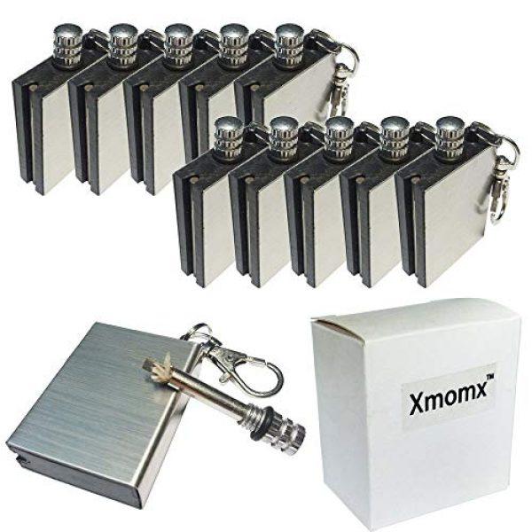 Xmomx Survival Fire Starter 1 Xmomx 10 x Hiking Emergency Survival Camping Fire Starter Flint Metal Match Lighter