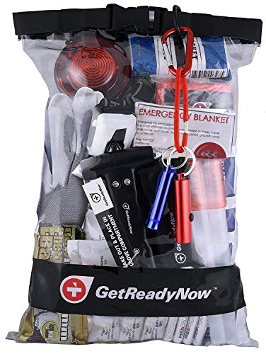 GetReadyNow  1 GetReadyNow | 2+ Person Deluxe Vehicle Emergency Kit Earthquake & Disaster Survival Supplies | Compact
