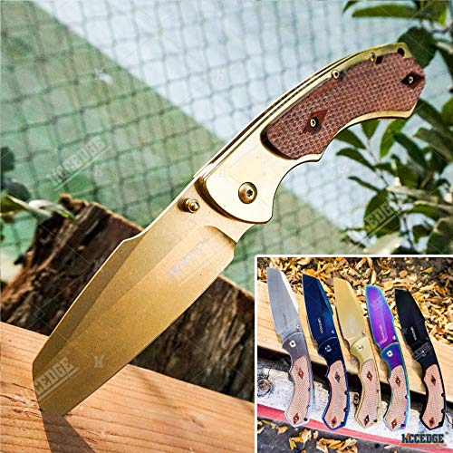 KCCEDGE BEST CUTLERY SOURCE  1 KCCEDGE BEST CUTLERY SOURCE Pocket Knife Camping Accessories Razor Sharp Edge Sheep's Foot Folding Knife Camping Gear EDC Survival Kit 58304