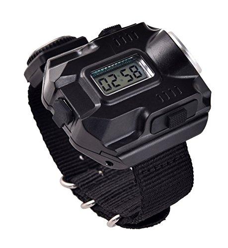 BlueSunshine  1 BlueSunshine Super Bright Wrist LED Light USB Rechargeable Waterproof LED Flashlight Wristlight Watch with Compass