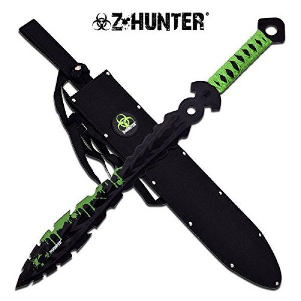 "Top Swords Fixed Blade Survival Knife 1 25"" Zombie Hunter Fantasy Fixed Blade"