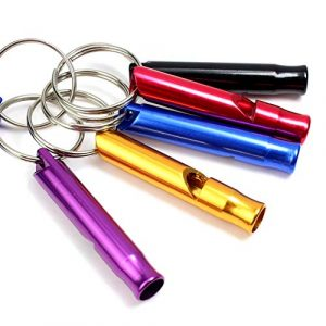 Homer-wa  1 Homer-wa Pack of 8 Extra Loud Emergency Whistle Keychain Camping Survival Whistle