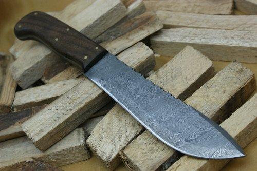Knife King  1 Knife King Custom Damascus Handmade Hunting Knife. with Leather Sheath