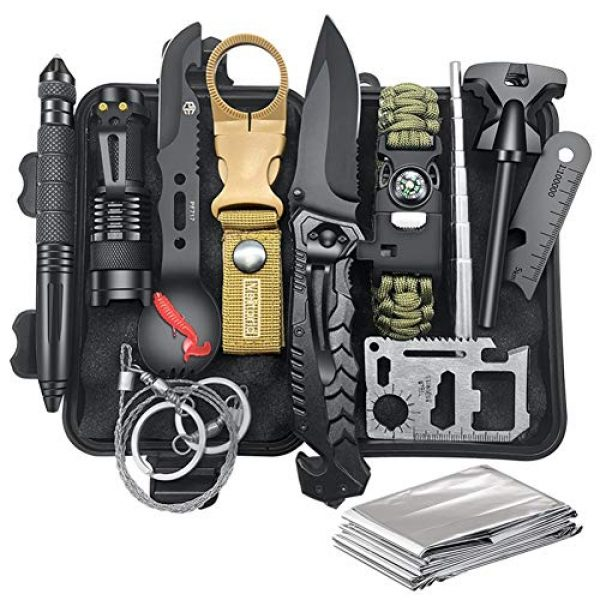 Veitorld Survival Kit 1 Gifts for Men Dad Husband Fathers Day, Survival Kit 12 in 1, Fishing Hunting Birthday Gifts Ideas for Him Boyfriend Teen Boy, Cool Gadget Stocking Stuffer, Survival Gear, Emergency Camping Gear