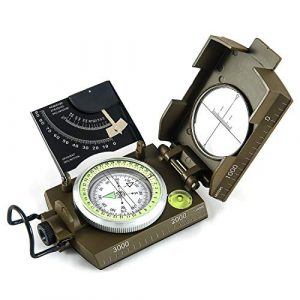 Eyeskey Survival Compass 1 Eyeskey Multifunctional Military Metal Sighting Navigation Compass with Inclinometer | Impact Resistant & Waterproof Compass for Hiking, Camping, Boy Scout