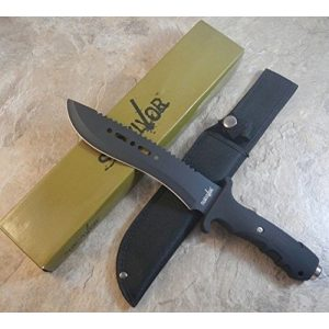 """New Fixed Blade Survival Knife 1 New 12"""" Tactical Hunting Machete Survival Eco'Gift Limited Edition Knife with Sharp Blade Military Bowie Fixed Blade w/Sheath"""