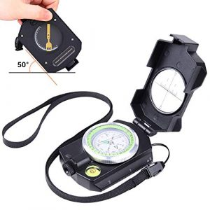 Sportneer Survival Compass 1 Sportneer Lightweight Sighting Compass with Inclinometer, Distance Calculator, Military Lensatic Waterproof Survival Compasses for Camping, Hiking, Backpacking, Boy Scout,Navigation, Boating