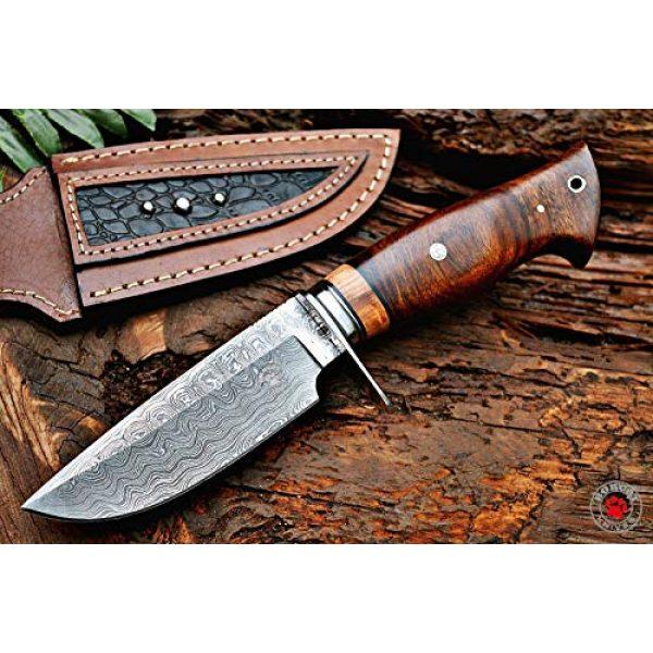 Bobcat Knives Fixed Blade Survival Knife 1 Bobcat Knives Desert Fox Custom Handmade Hunting EDC Knife Damascus Steel with Leather Sheath