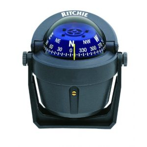 Ritchie Navigation Survival Compass 1 Ritchie Explorer Compas Dial with Adjustable Bracket Mount and 12V Green Night Lighting (Gray, 2 3/4-Inch)