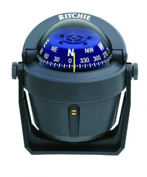 Ritchie Navigation  1 Ritchie Explorer Compas Dial with Adjustable Bracket Mount and 12V Green Night Lighting (Gray