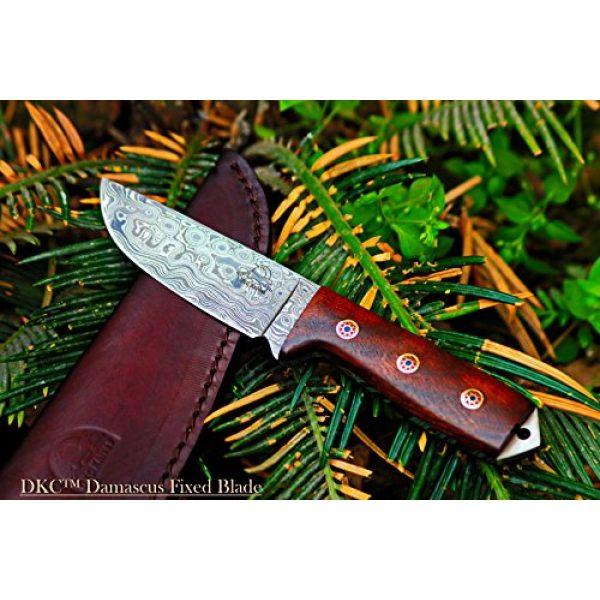 "DKC Knives Fixed Blade Survival Knife 1 Sale (33 5/18) DKC-73 Survival 1 Damascus Hunting Knife 8"" Long 4"" Blade 5.4 oz ! Walnut Handle"