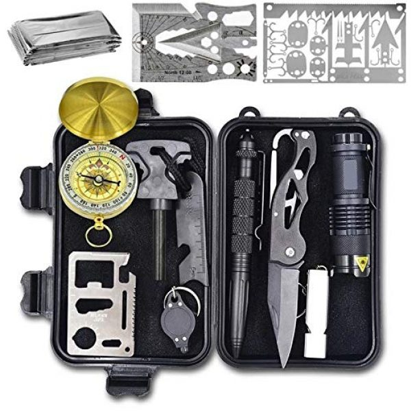 Wild Peak Survival Kit 1 Wild Peak Prepare-1 Survival Tool Kit with Axe Multi-Tool Card and a Thin Multi-Tool Card for Camping Gear, Hiking, Climbing, Fishing and Hunting