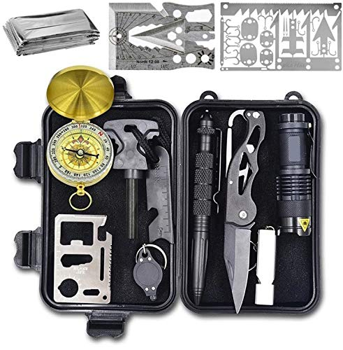 Wild Peak  1 Wild Peak Prepare-1 Survival Tool Kit with Axe Multi-Tool Card and a Thin Multi-Tool Card for Camping Gear