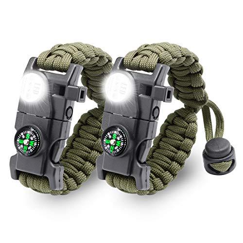 LeMotech  1 LeMotech 20 in 1 Adjustable Paracord Survival Bracelet
