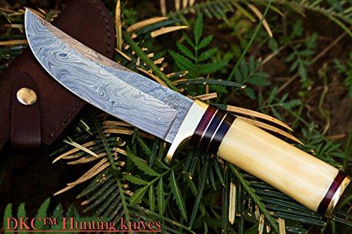 "DKC Knives  1 DKC Knives (14 5/18) SALE DKC-30 ALASKA Damascus Steel Hunting Bowie Knife 10.5"" Long 5"" Blade 8oz"