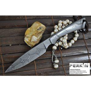 Perkin Fixed Blade Survival Knife 1 Perkin - Beautiful Custom Handmade - Camping Knife with Sheath