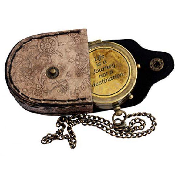 MAH Survival Compass 1 MAH Life is A Journey Not A Destination Vintage Antique Look Solid Brass Compass Maritime Compass. C-3275
