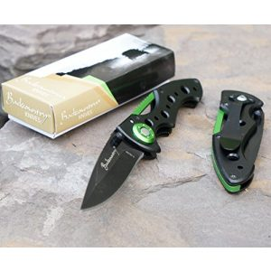 Backcountry Knives Folding Survival Knife 1 Backcountry Scout (Green) Folding Pocket Knife, 2.5 Inch Straight Blade,, Camping, Hiking, Everyday Carry