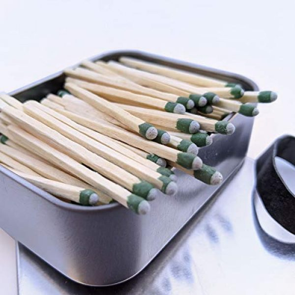 PBL Survival Fire Starter 1 PBL Waterproof Matches Wooden Fire Starters in Tin Containers Kaeser Wilderness Supply