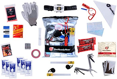 GetReadyNow  1 GetReadyNow | Vehicle Emergency Kit | Earthquake & Natural Disaster Survival Supplies | Compact