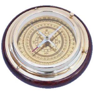 """Hampton Nautical Survival Compass 1 Hampton Nautical Brass Directional Desktop Compass, 6"""", Brass"""