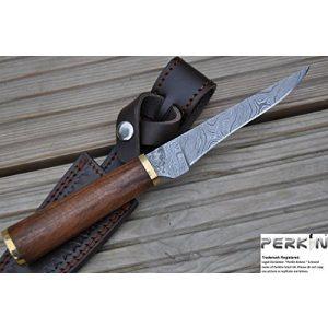 Perkin Knives Fixed Blade Survival Knife 1 Perkin Knives - Custom Handmade Damascus Hunting Knife - Beautiful Boning Knife