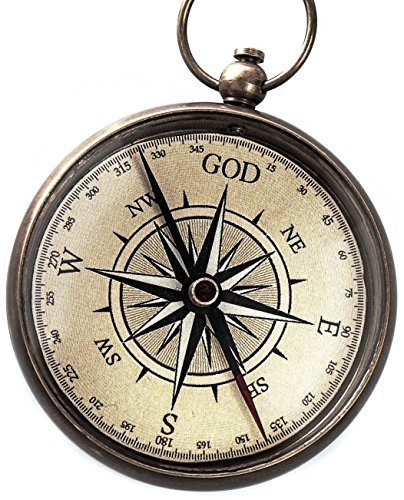 God is My Guide  1 God is My Guide Compass with Display Stand-Unique | Uplifting | Heavenly Gift of Faith. The Perfect Baptism Gift