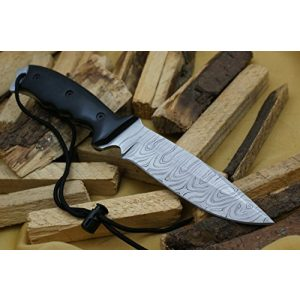 Knife King Fixed Blade Survival Knife 1 Knife King Model 2 Custom Damascus Hunting Knife Black Micarta Handle