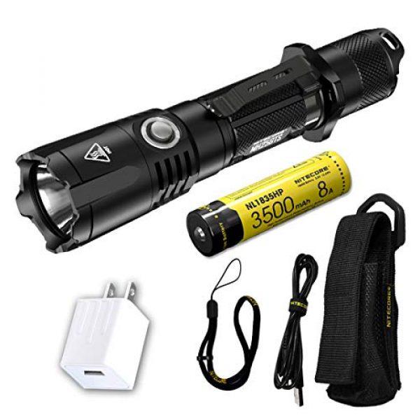 Nitecore Survival Flashlight 1 NITECORE MH25GTS 1800 Lumen USB Rechargeable Tactical Flashlight with Battery & LumenTac Adapter
