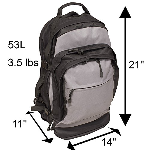 Emergency Zone  4 Emergency Zone Stealth Tactical 2 Person Bug-Out Bag |3 Day Go-Bag with Waterproof Covering & 2 Person Dome Tent & Hydration Bladder