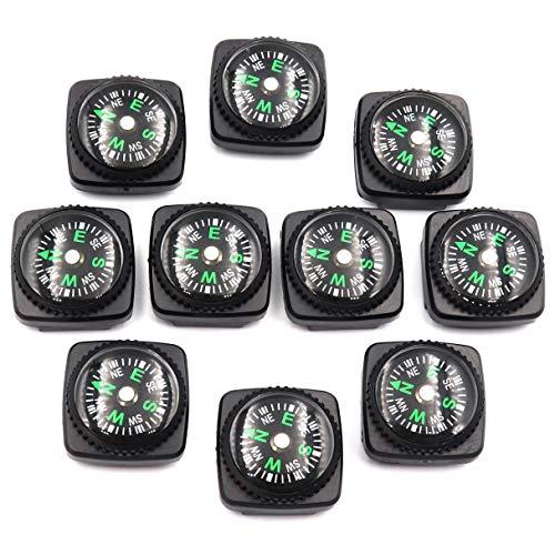DETUCK  1 DETUCK(TM Mini Compass Button Compass Little Compasses Backup Compass Set for Wrist Watchband