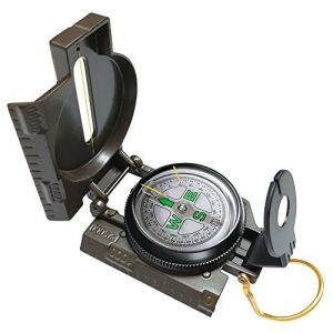 Eaggle Survival Compass 1 Multifunctional Military Compass, Amy Green, Waterproof and Shakeproof, Compass for Outdoor, Camping, Hiking, Military Usage