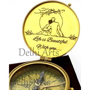 Delhi Arts Survival Compass 1 Delhi Arts i Carry Your Heart with me Poem Engraved Compass, Valentines Gift, Nautical Love Compass, Love Gift, Unusual Gift for Husband/Wife, him/her, Anniversary, Birthday