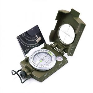 Beileshi  1 beileshi Professional Multifunction Military Army Metal Sighting Compass W/inclinometer Camping and Hiking Waterproof Compass