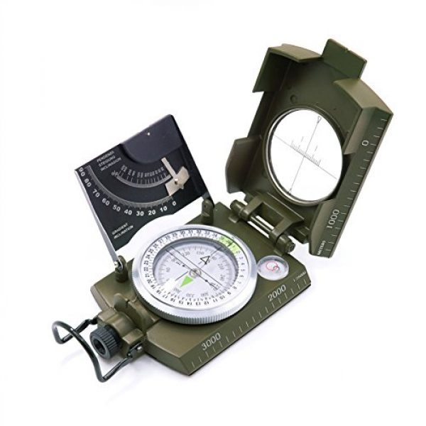 Beileshi Survival Compass 1 beileshi Professional Multifunction Military Army Metal Sighting Compass W/inclinometer Camping and Hiking Waterproof Compass