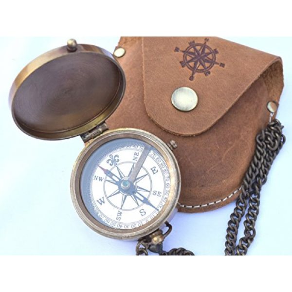 NEOVIVID Survival Compass 1 NEOVIVID Brass Pocket Compass, Engravable Compass, Camping Compass, Hiking Compass, Wedding Gifts