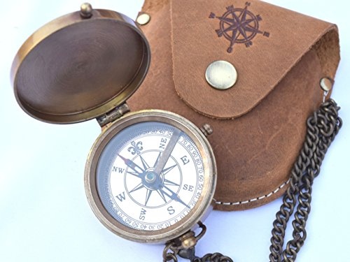 NEOVIVID Survival Compass 1 NEOVIVID Brass Pocket Compass, Engravable Compass, Camping Compass, Hiking Compass, Wedding Gifts